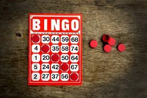 Bingo Card And Chips 84083797 3