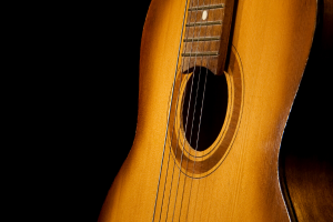 Acoustic Guitar Black Background 6