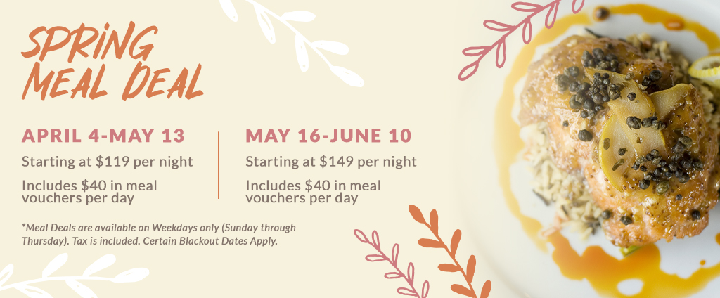 Boardwalk Hotels Spring Meal Deal