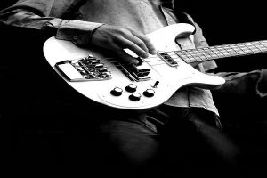 Electric Guitar Player Black And White Downscale 1