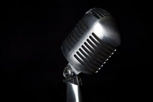 Karaoke Microphone Black Background 1